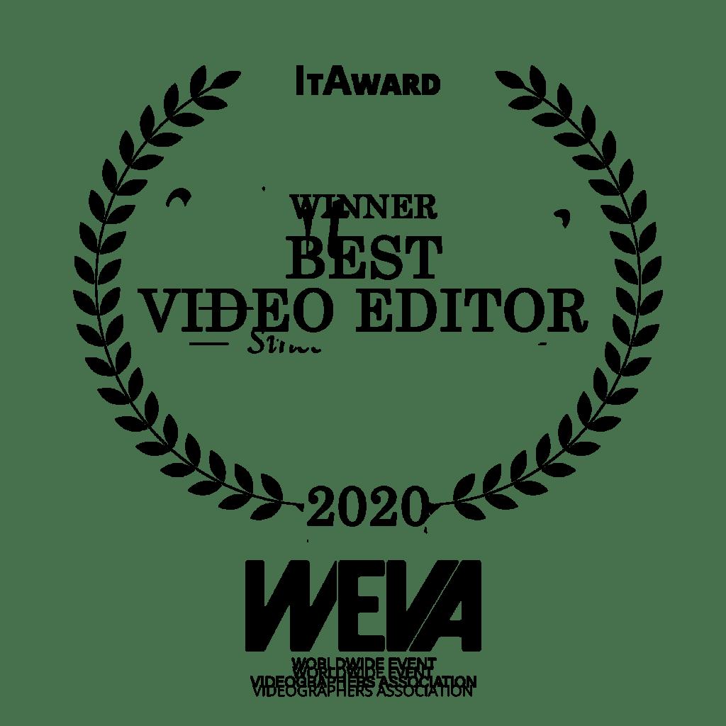 winner category best video editor wedding awards