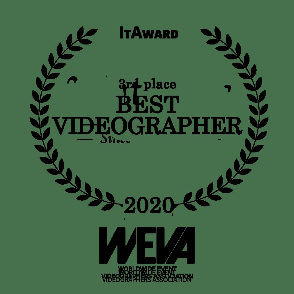 winner category best videographer wedding awards