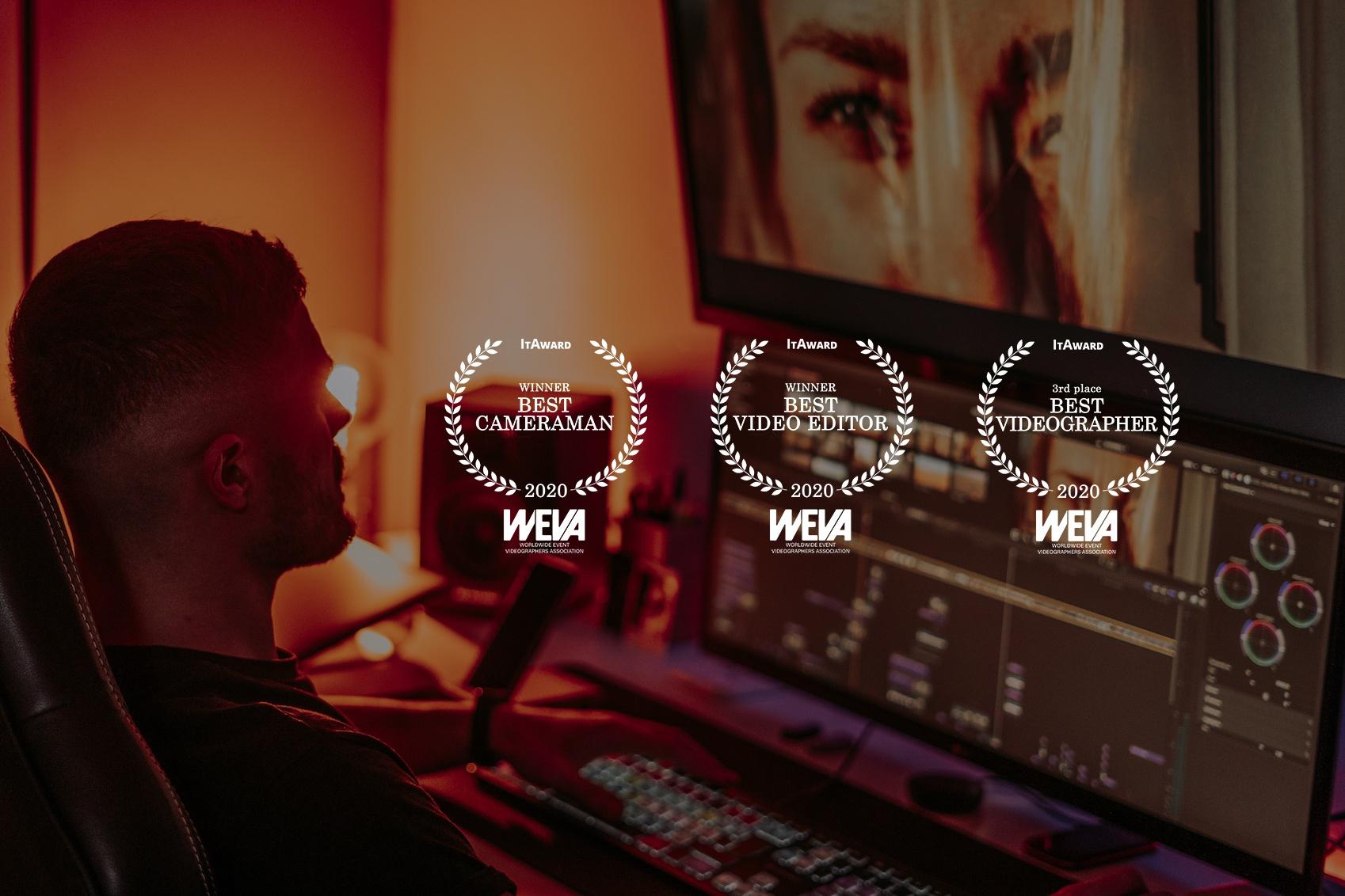 wedding awards Sergio Eblo films best videographer cameraman video editor